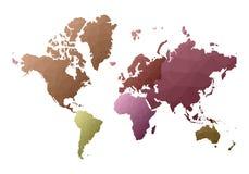 Correspondencia de mundo continentes polivin?licos bajos dram?ticos del estilo libre illustration
