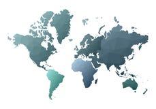 Correspondencia de mundo continentes polivin?licos bajos elegantes del estilo stock de ilustración