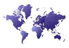Correspondencia de mundo continentes polivinílicos bajos eminentes del estilo ilustración del vector