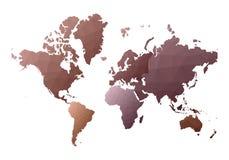 Correspondencia de mundo continentes polivin?licos bajos en?rgicos del estilo ilustración del vector