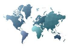 Correspondencia de mundo continentes polivinílicos bajos exóticos del estilo libre illustration