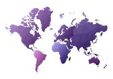 Correspondencia de mundo continentes polivinílicos bajos exquisitos del estilo stock de ilustración