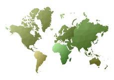 Correspondencia de mundo continentes polivinílicos bajos extáticos del estilo ilustración del vector