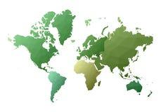 Correspondencia de mundo continentes polivin?licos bajos hermosos del estilo stock de ilustración