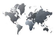 Correspondencia de mundo continentes polivinílicos bajos impresionantes del estilo libre illustration