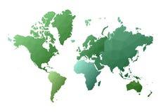 Correspondencia de mundo continentes polivinílicos bajos intrépidos del estilo libre illustration