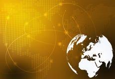 Correspondencia de mundo - correspondencia de Europa ilustración del vector