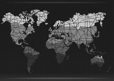 Correspondencia de mundo Corte los continentes Ilustración del vector Foto de archivo libre de regalías