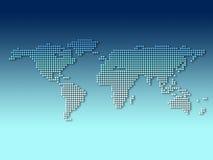 Correspondencia de mundo de Digitaces Ilustración del Vector