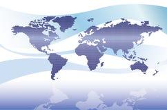 Correspondencia de mundo de Digitaces Imagen de archivo