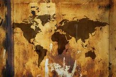 Correspondencia de mundo de Grunge Imágenes de archivo libres de regalías