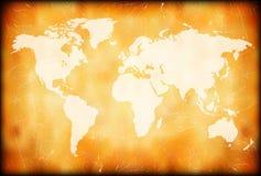 Correspondencia de mundo de Grunge Fotografía de archivo libre de regalías