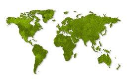 Correspondencia de mundo de la ecología Fotos de archivo libres de regalías