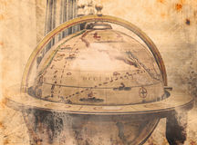 Correspondencia de mundo de la vendimia Foto de archivo