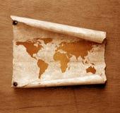 Correspondencia de mundo de la vendimia Imágenes de archivo libres de regalías
