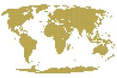 Correspondencia de mundo de la viruta electrónica Stock de ilustración