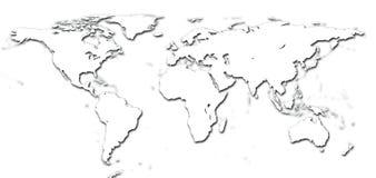 Correspondencia de mundo del detalle stock de ilustración
