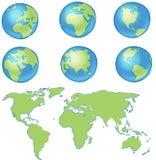 Correspondencia de mundo del globo Fotos de archivo