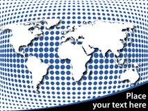 Correspondencia de mundo en el fondo de semitono Imagen de archivo libre de regalías