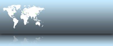 Correspondencia de mundo en una pared azul Imagenes de archivo