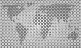 Correspondencia de mundo gris del modelo del metal libre illustration