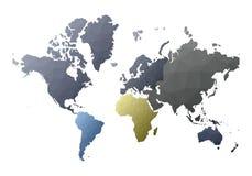 Correspondencia de mundo hechizar continentes polivinílicos bajos del estilo ilustración del vector