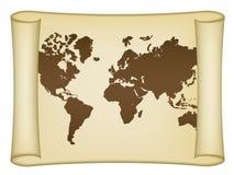 Correspondencia de mundo histórica Imagen de archivo libre de regalías