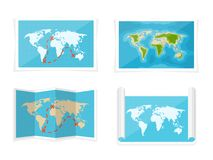 Correspondencia de mundo Ilustración del vector nearsighted África la Antártida Australia Eurasia Norteamérica libre illustration