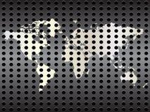 Correspondencia de mundo metálica ilustración del vector