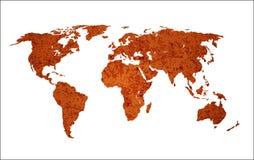 Correspondencia de mundo oxidada aislada Foto de archivo