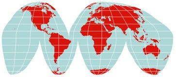 Correspondencia de mundo - proyección interrumpida de Goode Fotografía de archivo