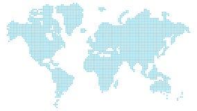 Correspondencia de mundo punteada almacen de video