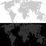 Correspondencia de mundo punteada vector Mapa simple abstracto Imágenes de archivo libres de regalías