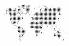 Correspondencia de mundo Puntos del mapa del mundo fondo del estilo del arte pop libre illustration