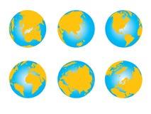 Correspondencia de mundo, serie del globo 3D ilustración del vector