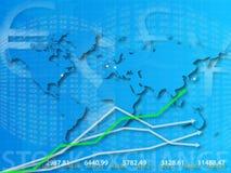 Correspondencia de mundo y bolsa  stock de ilustración