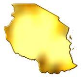 Correspondencia de oro de Tanzania 3d stock de ilustración