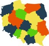 Mapa de Polonia Imagen de archivo libre de regalías
