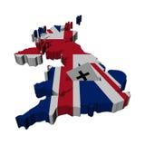 Correspondencia de Reino Unido con la papeleta electoral Fotografía de archivo libre de regalías