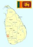 Correspondencia de Sri Lanka Imagen de archivo libre de regalías