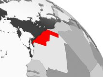 Correspondencia de Western Sahara stock de ilustración