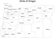 Correspondencia del estado de Oregon ilustración del vector