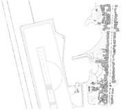 Correspondencia del modelo de la ciudad Imagen de archivo libre de regalías