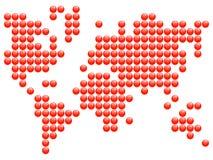 Correspondencia del mundo Imágenes de archivo libres de regalías