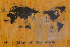 Correspondencia del mundo Imagen de archivo libre de regalías