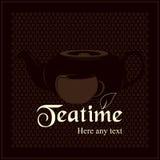 Correspondencia del té (menú) Imagen de archivo libre de regalías