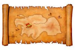 Correspondencia del tesoro del pirata Imagen de archivo libre de regalías