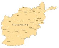 Correspondencia del vector de Afganistán Fotografía de archivo libre de regalías