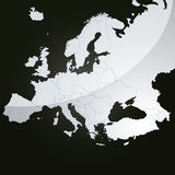 Correspondencia del vector de Europa Fotos de archivo libres de regalías