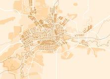Correspondencia del vector de la ciudad Imágenes de archivo libres de regalías